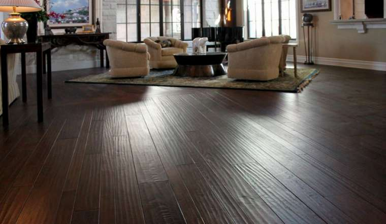 Hand scraped flooring installation contractor can install hardwood